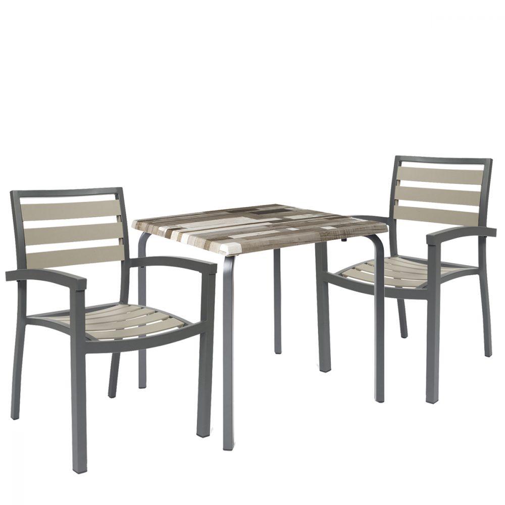conjunto eros bicolor y mesa venus