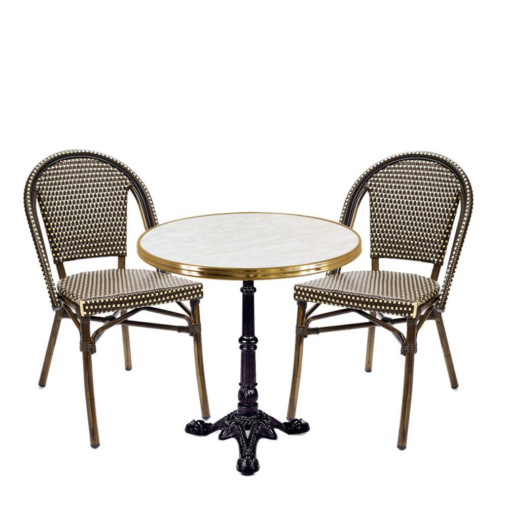 conjunta paris parisino sillas marrones