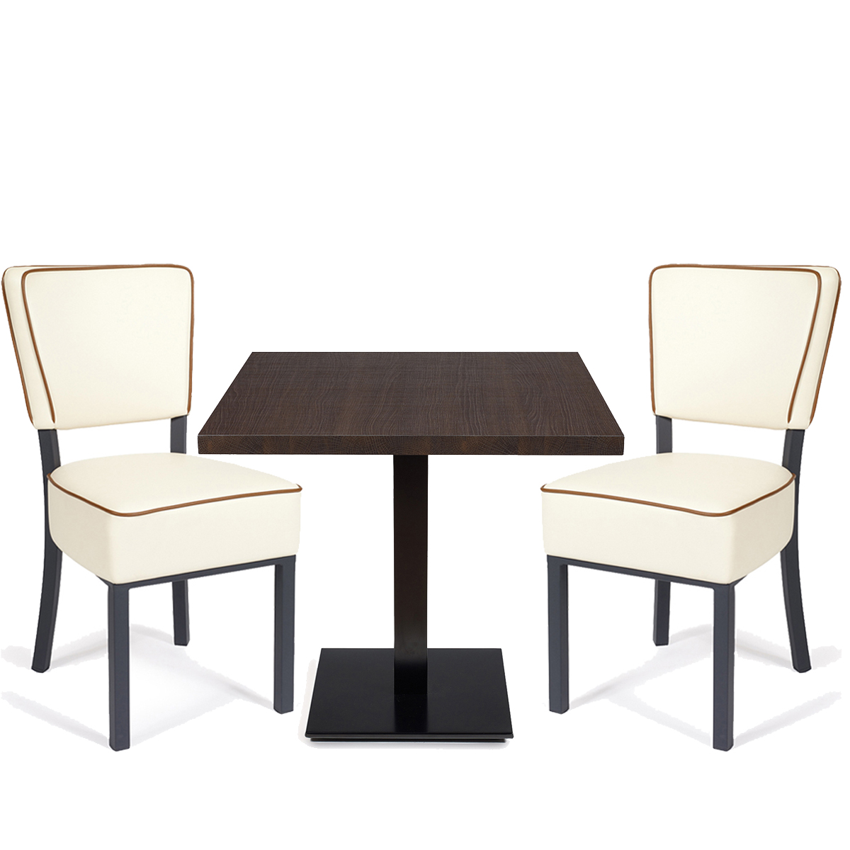 conjunto bohemias blancas con ribeteado y mesa munich