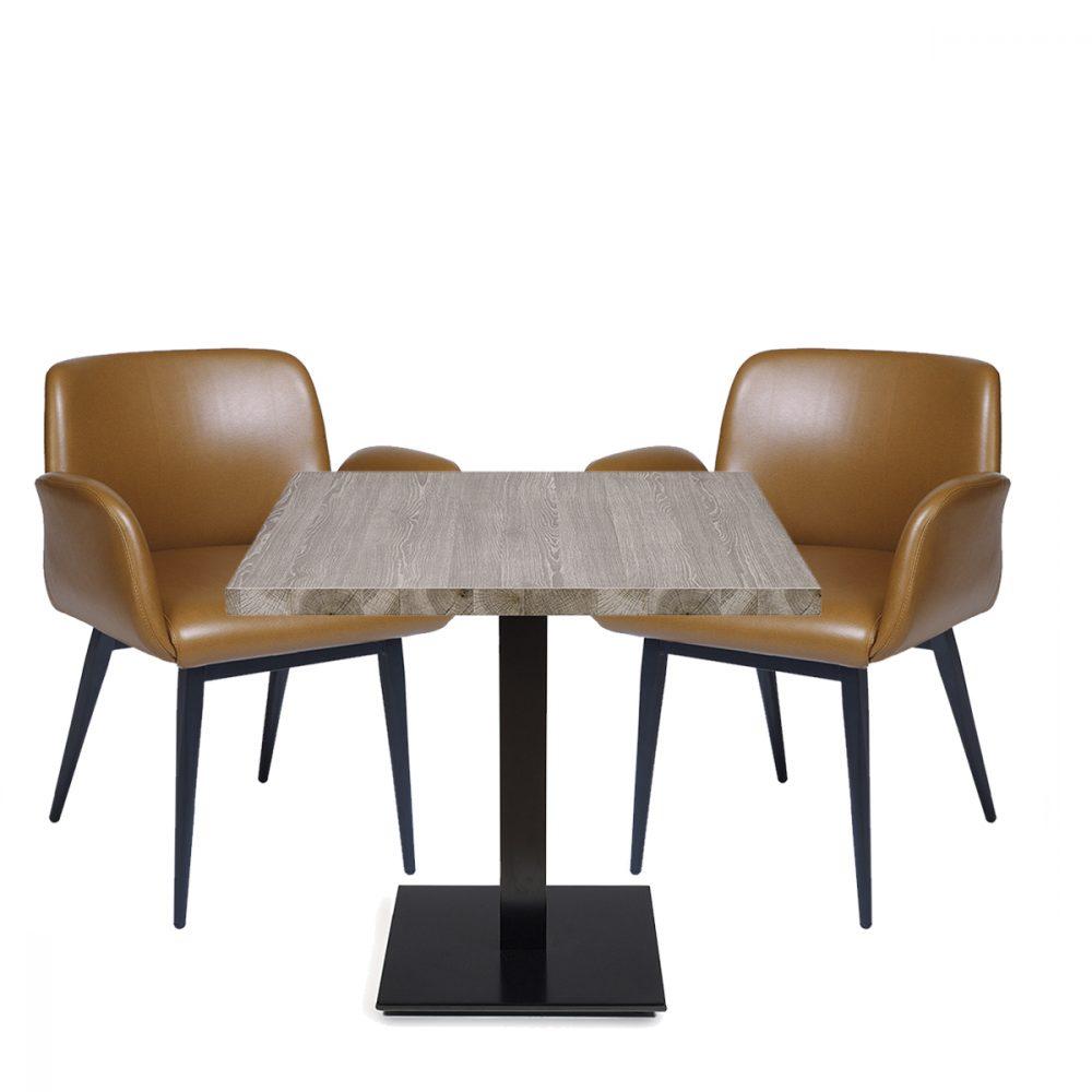 conjunto sillones lugano y mesa munich