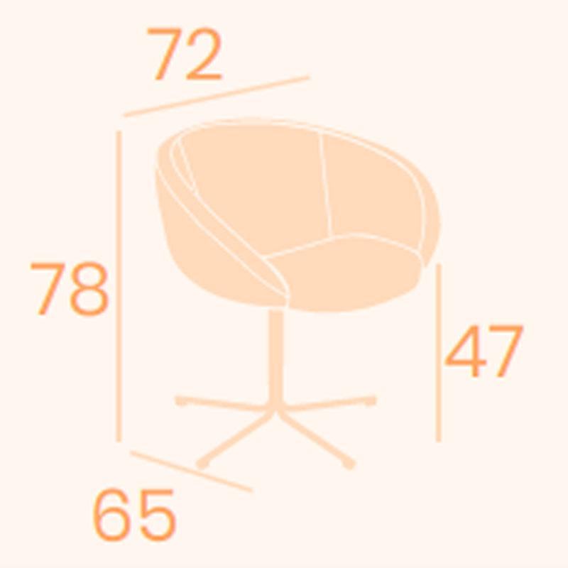 Dimensions armchair Lausan B-14 REYMA