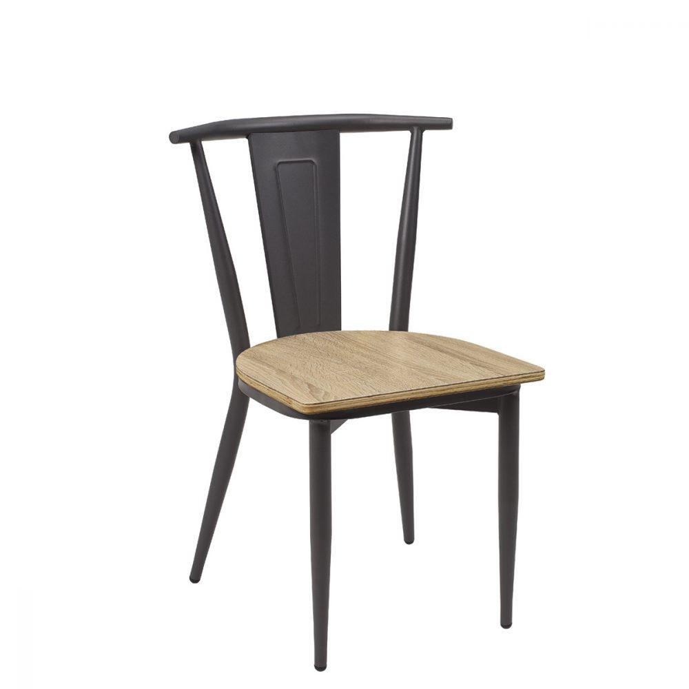 silla alabama grafito asiento laminado roble vintage