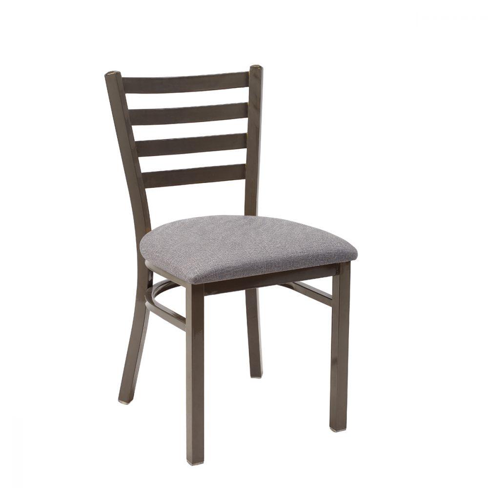 silla america gris envejecido asiento tapizado gris