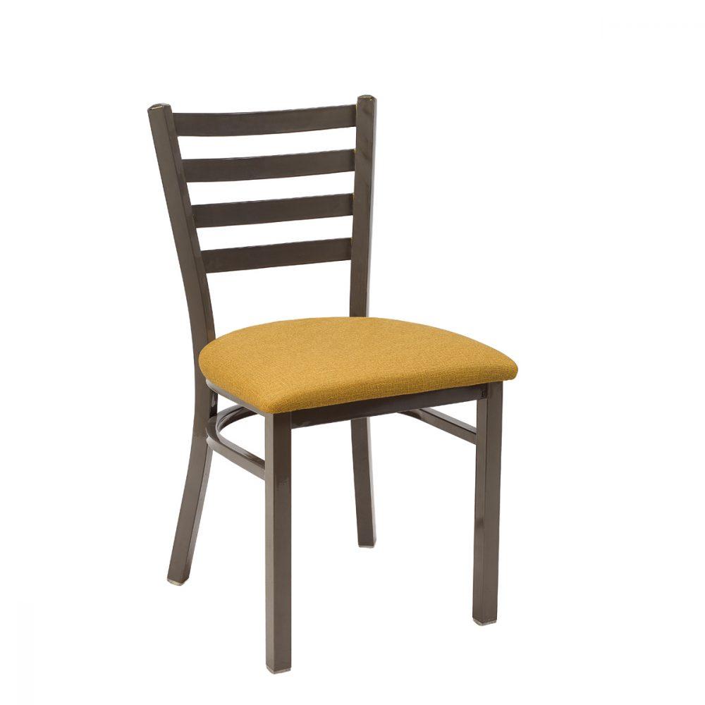 silla america gris envejecido asiento tapizado mostaza