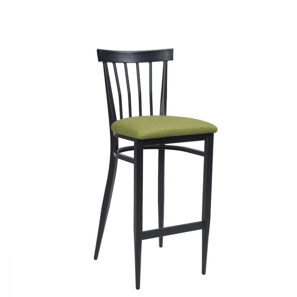 baltimore-banqueta-negro-asiento-tapizado-verde
