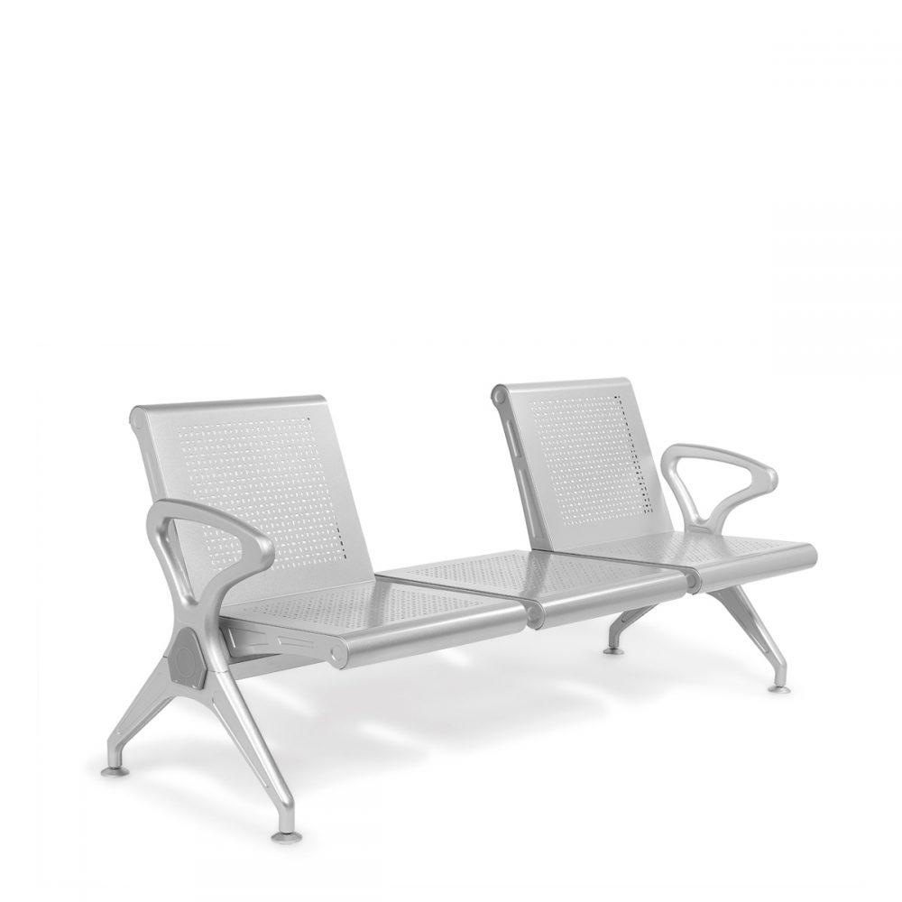 bancada asientos de acero troquelado