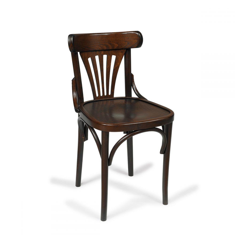 silla berlin madera de haya en nogal