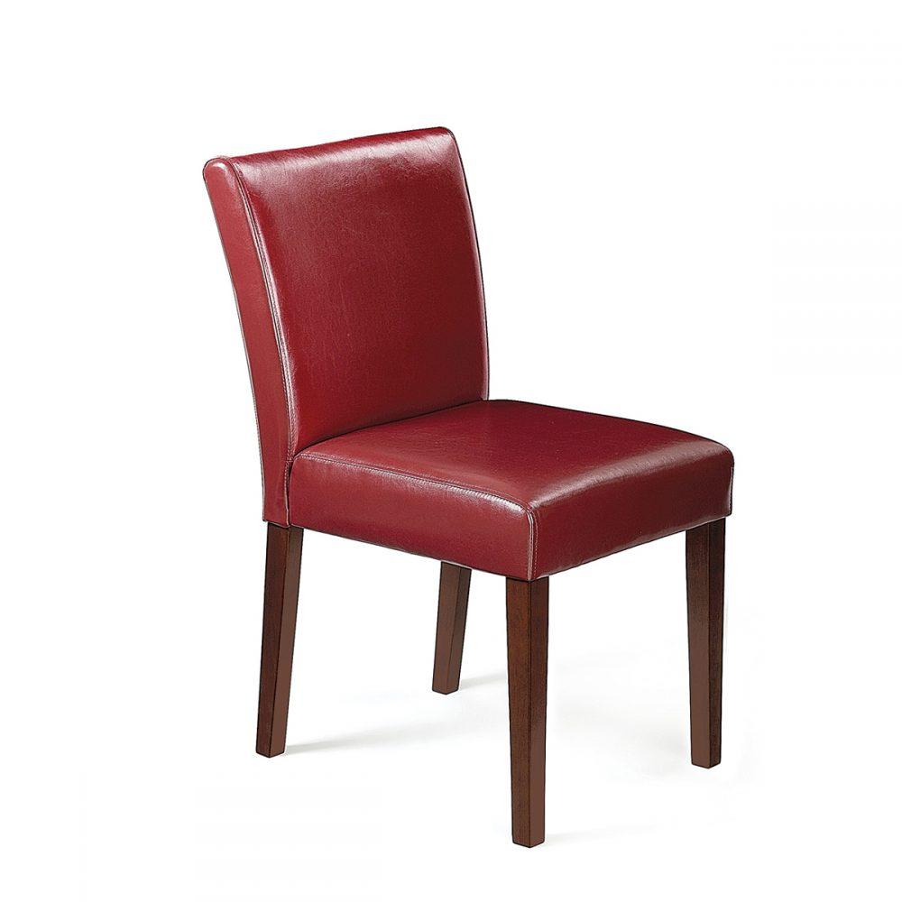 silla brujas de madera tapizada