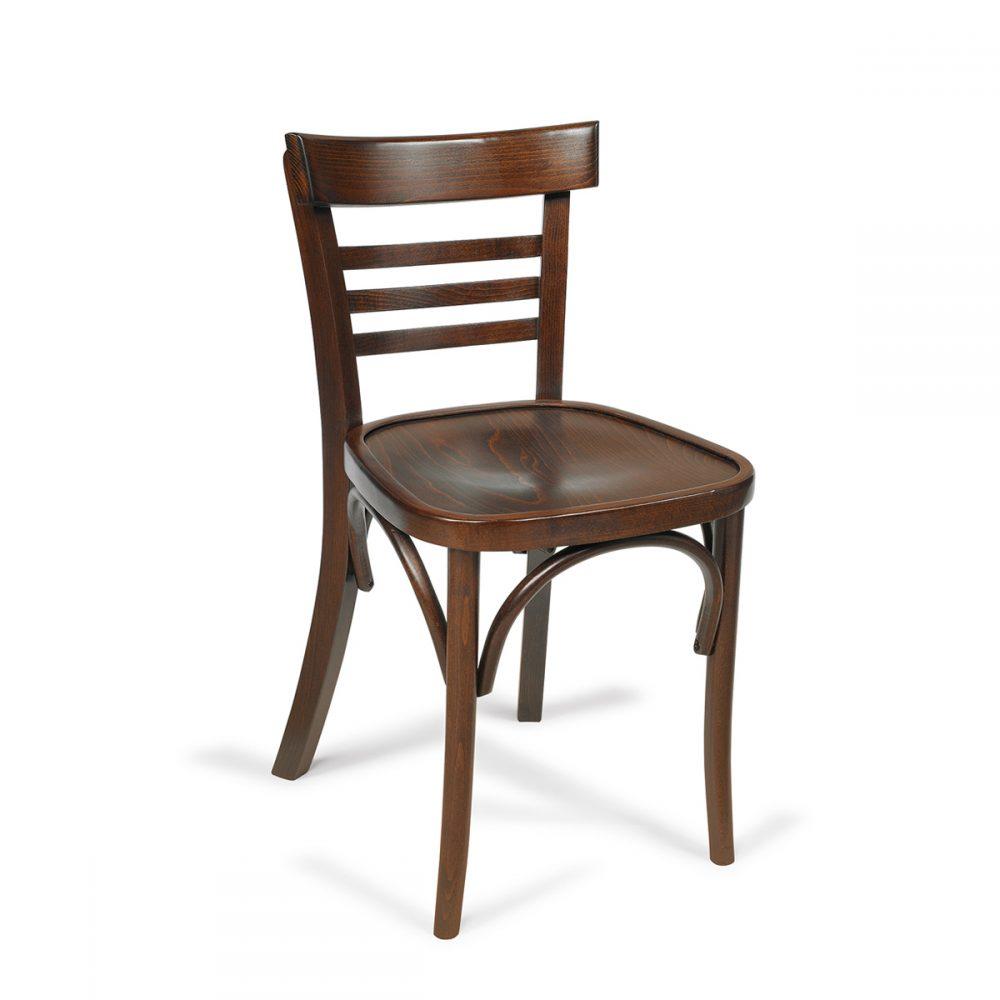 silla epoca madera de haya en nogal