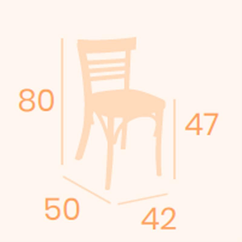 Dimensiones silla Época REYMA