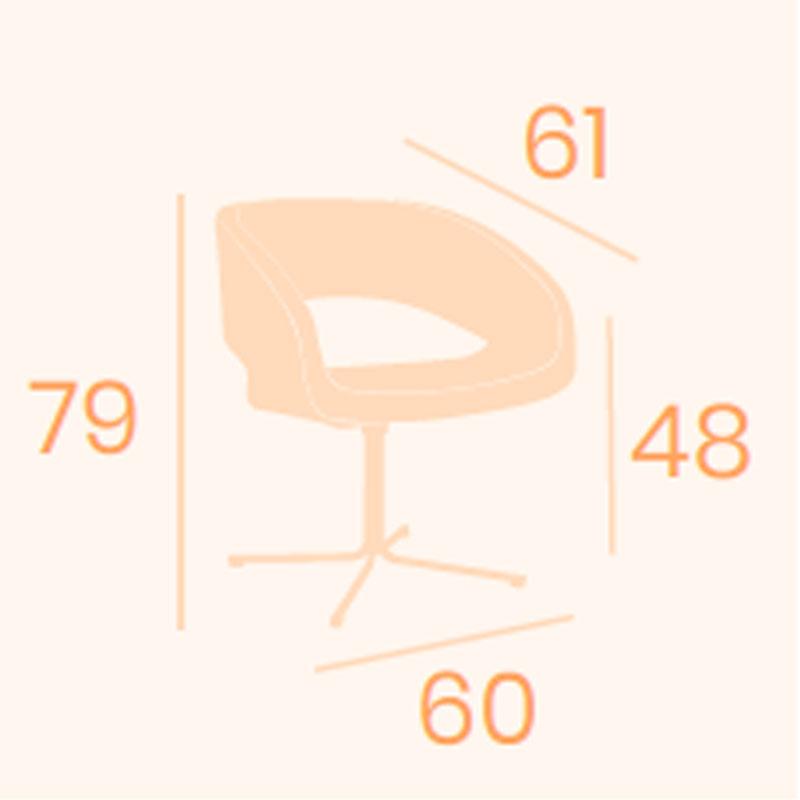 Dimensions armchair Lucerna B14 REYMA