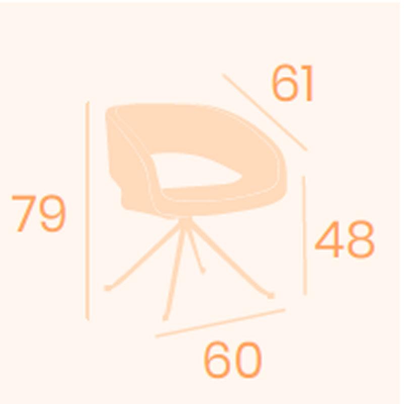Dimensions armchair Lucerna B5 REYMA