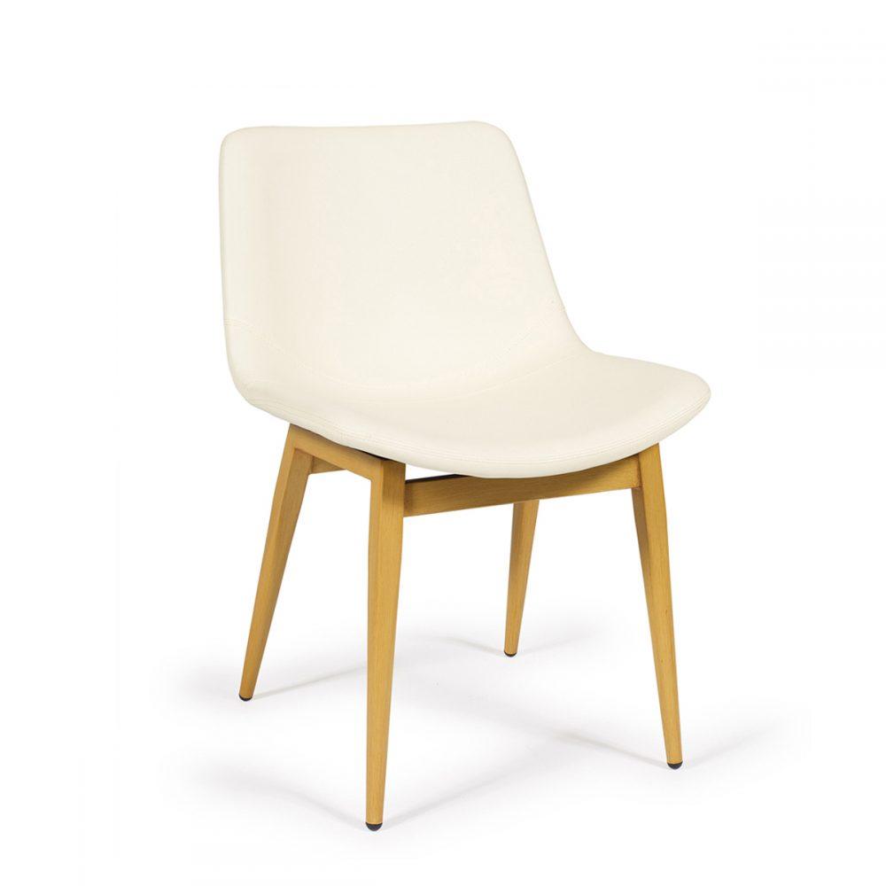 silla luxemburgo tapizada pie acero