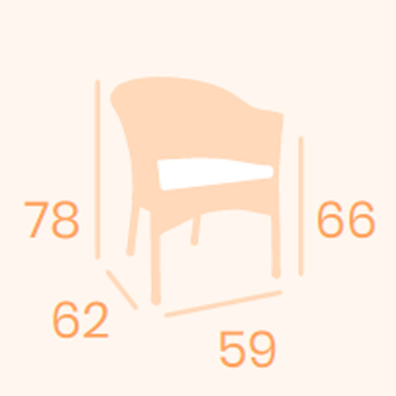 Dimensiones sillón Modena REYMA