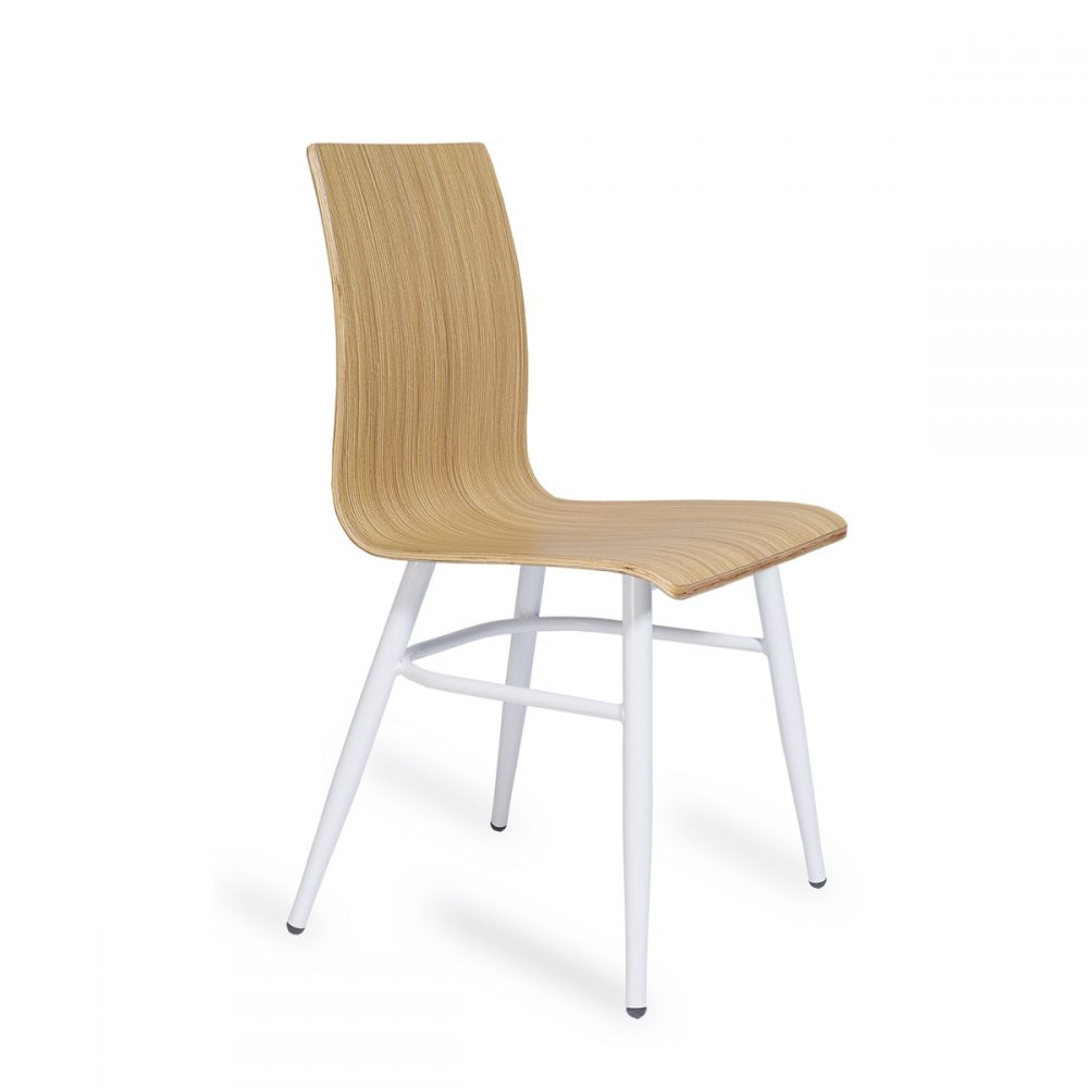 silla prado aluminio con carcasa de madera