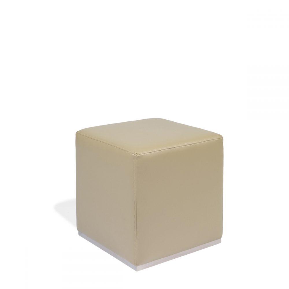 puff base de acero tapizado