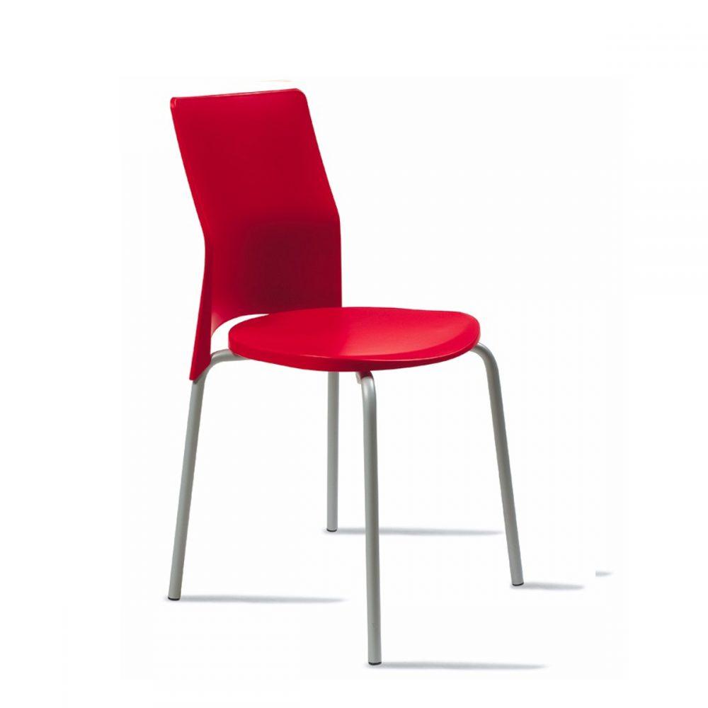 silla milan roja