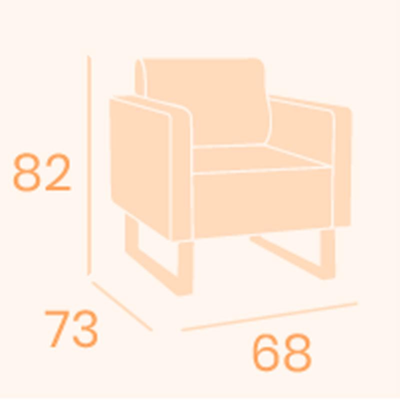 Dimensiones sillón Strauss REYMA