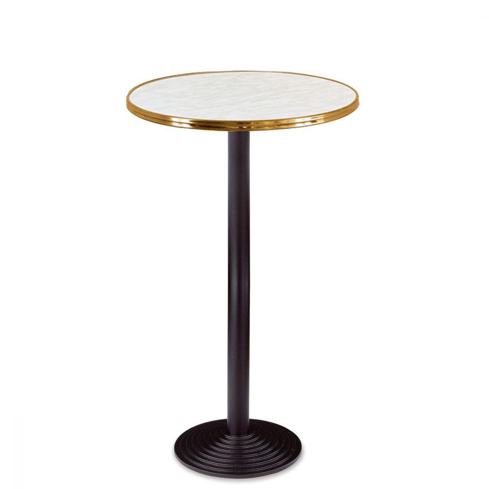 mesa 7108 con tablero marmol aro laton REYMA