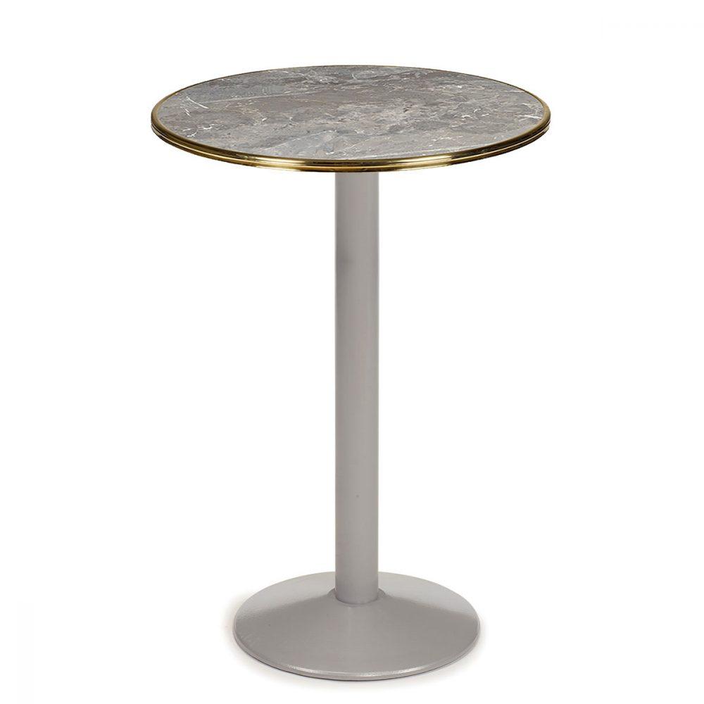 mesa 7150 pintada gris con tablero sicilia aro latón REYMA