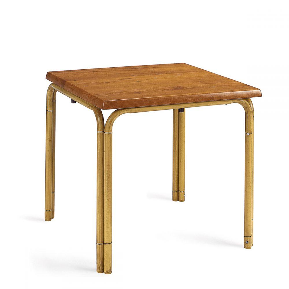 mesa apilable doble pata deco bambú