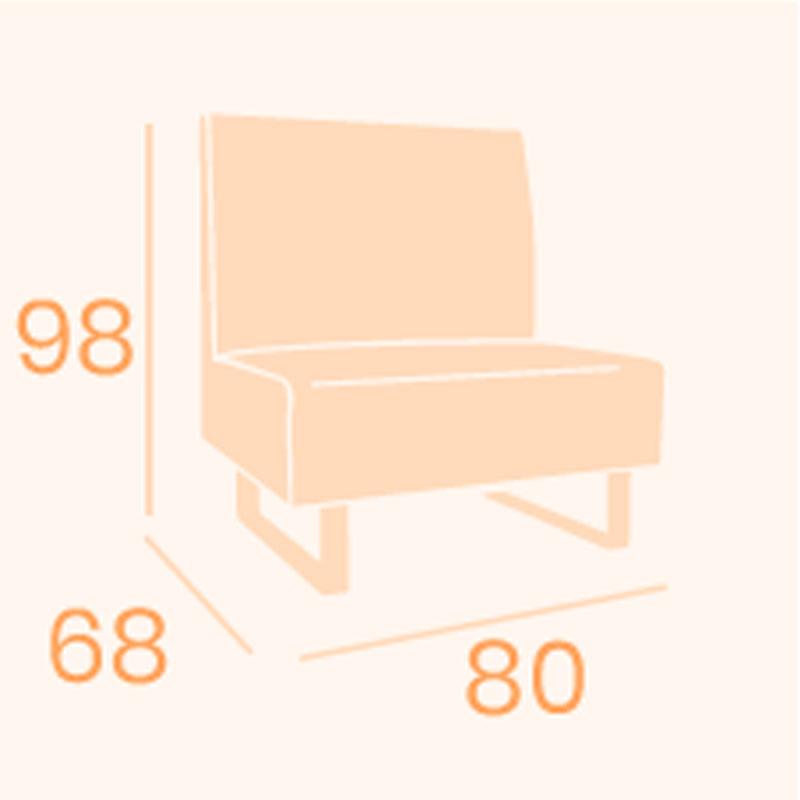 Dimensiones sofá Alfa 80 REYMA
