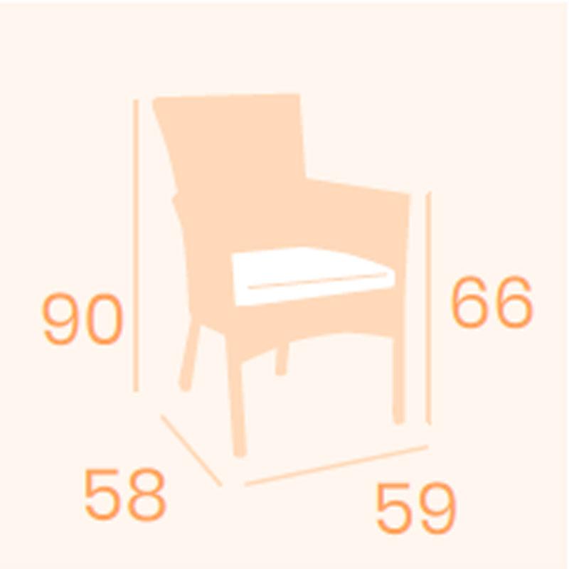 Dimensions fauteuil Bolonia REYMA