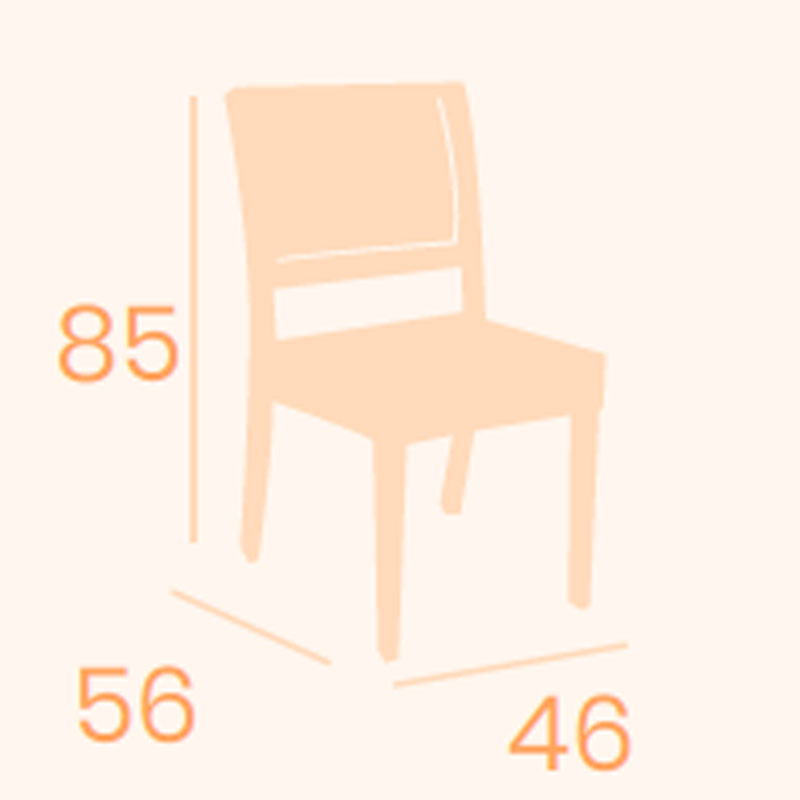 Dimensiones silla Breno REYMA
