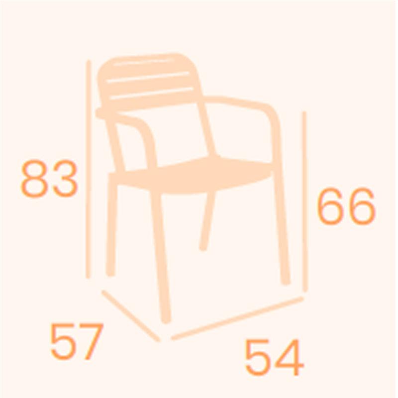 Dimensiones sillón California 1 REYMA