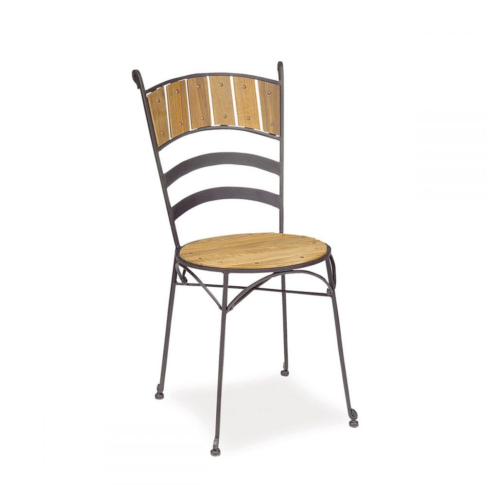 silla candil de hierro forjado