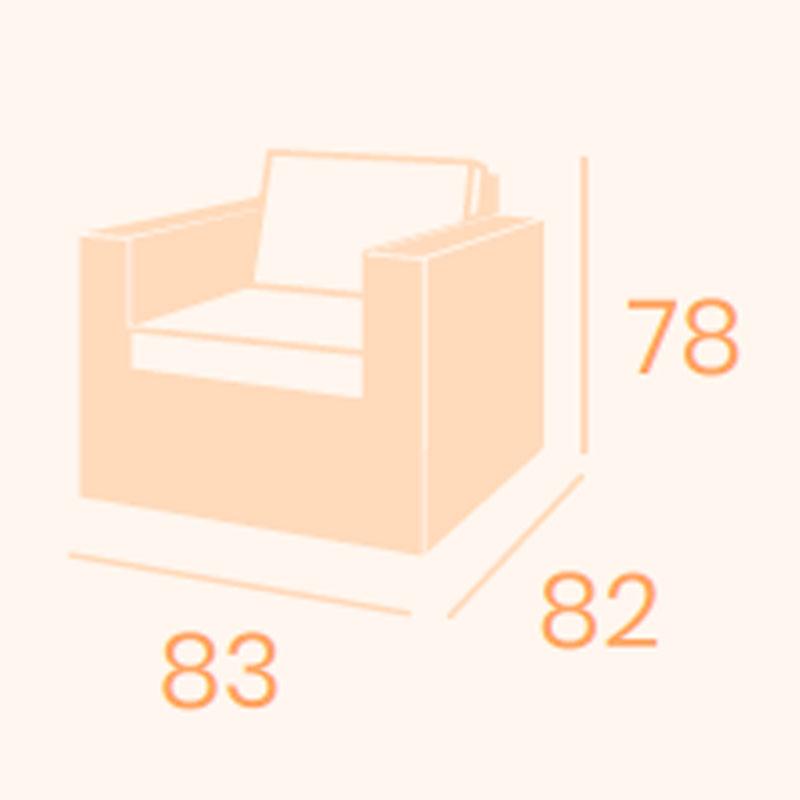 Dimensiones sillón Cosmo 1 REYMA
