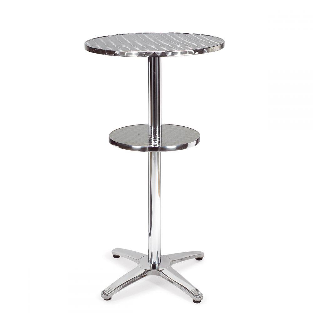mesa dinamarca alta aluminio dos tapas