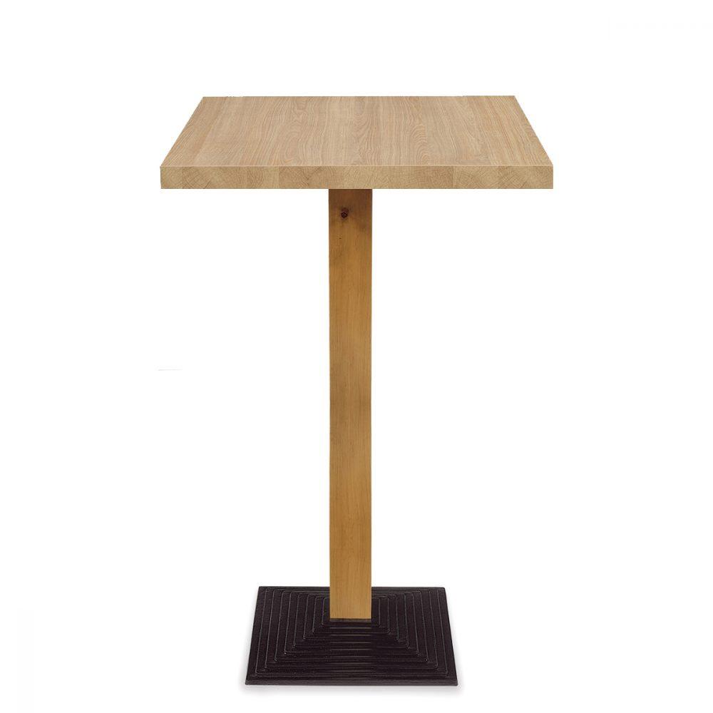 mesa epoca alta columna madera y tablero melamina