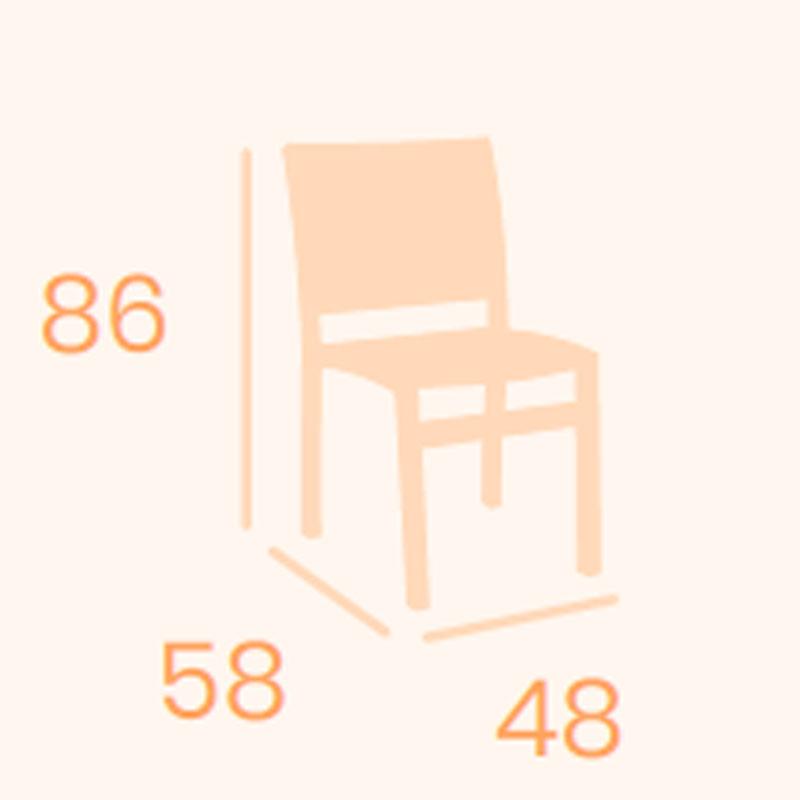 Dimensions chair Eros REYMA