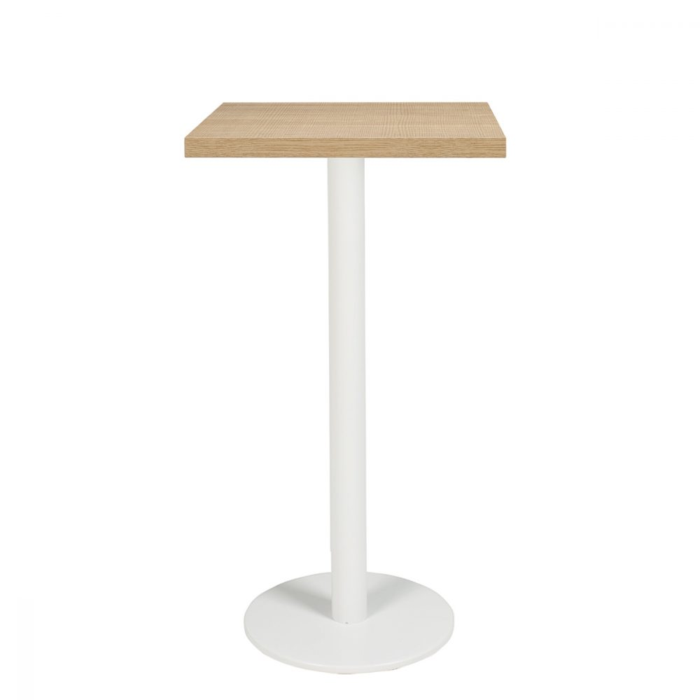 gran-roma-alta-mesa-110cm-aluminio-pintado-blanco-tablero-cuadrado-melamina-roble-hera