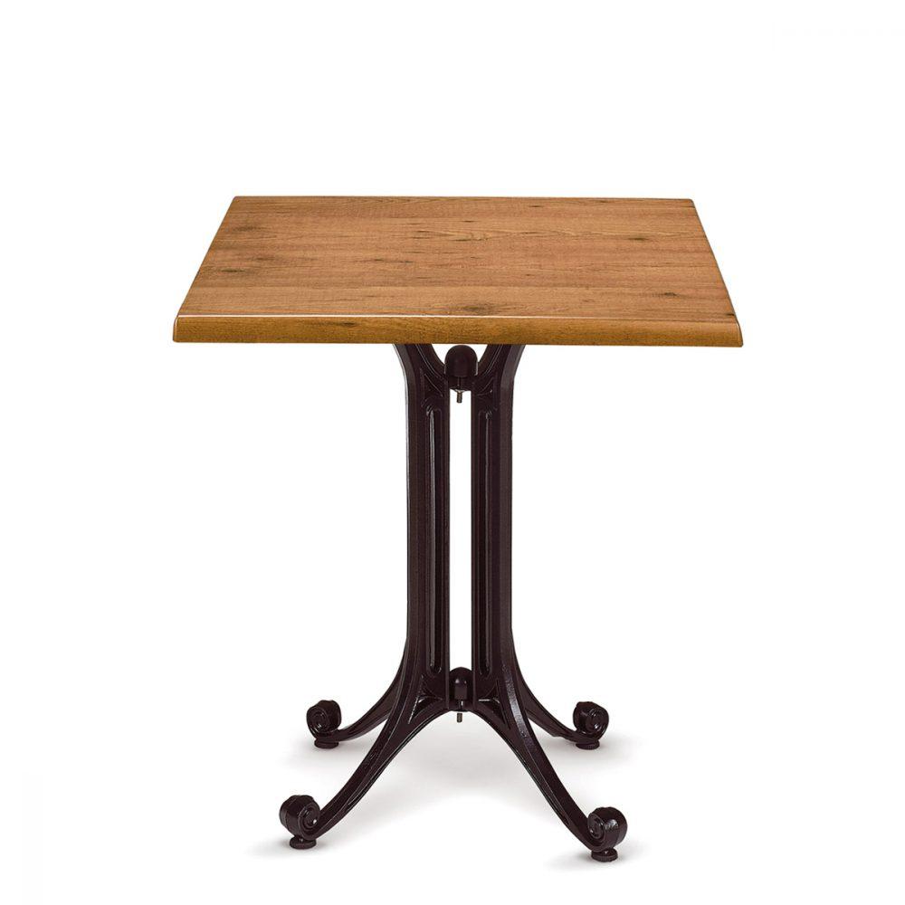 mesa greco con tablro cuadrado pino viejo