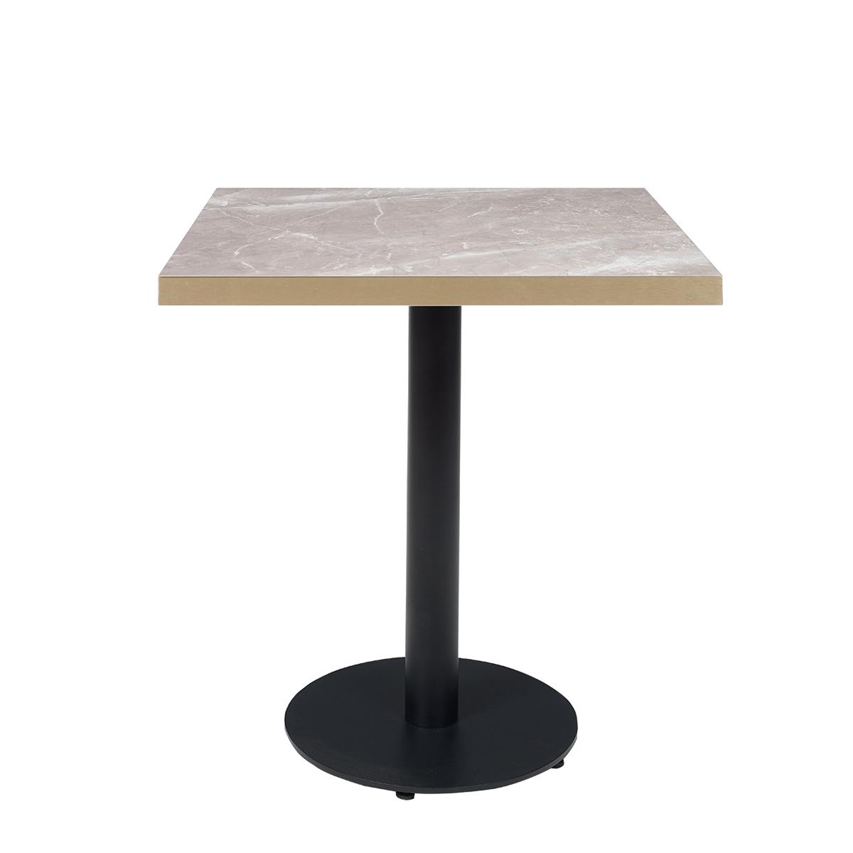mesa kolonia 9201 negra con metalmelamina atenea gris canto bronce