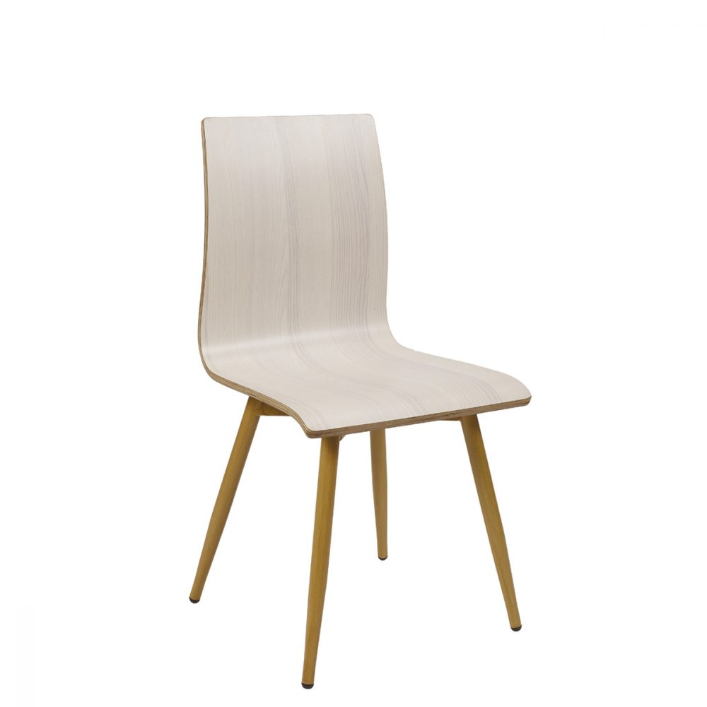 silla michigan p4 deco madera con carcasa laminada antartida