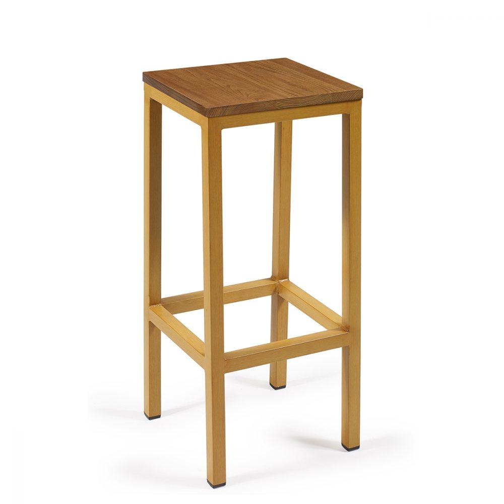 banqueta monaco plus en deco madera con asiento macizo