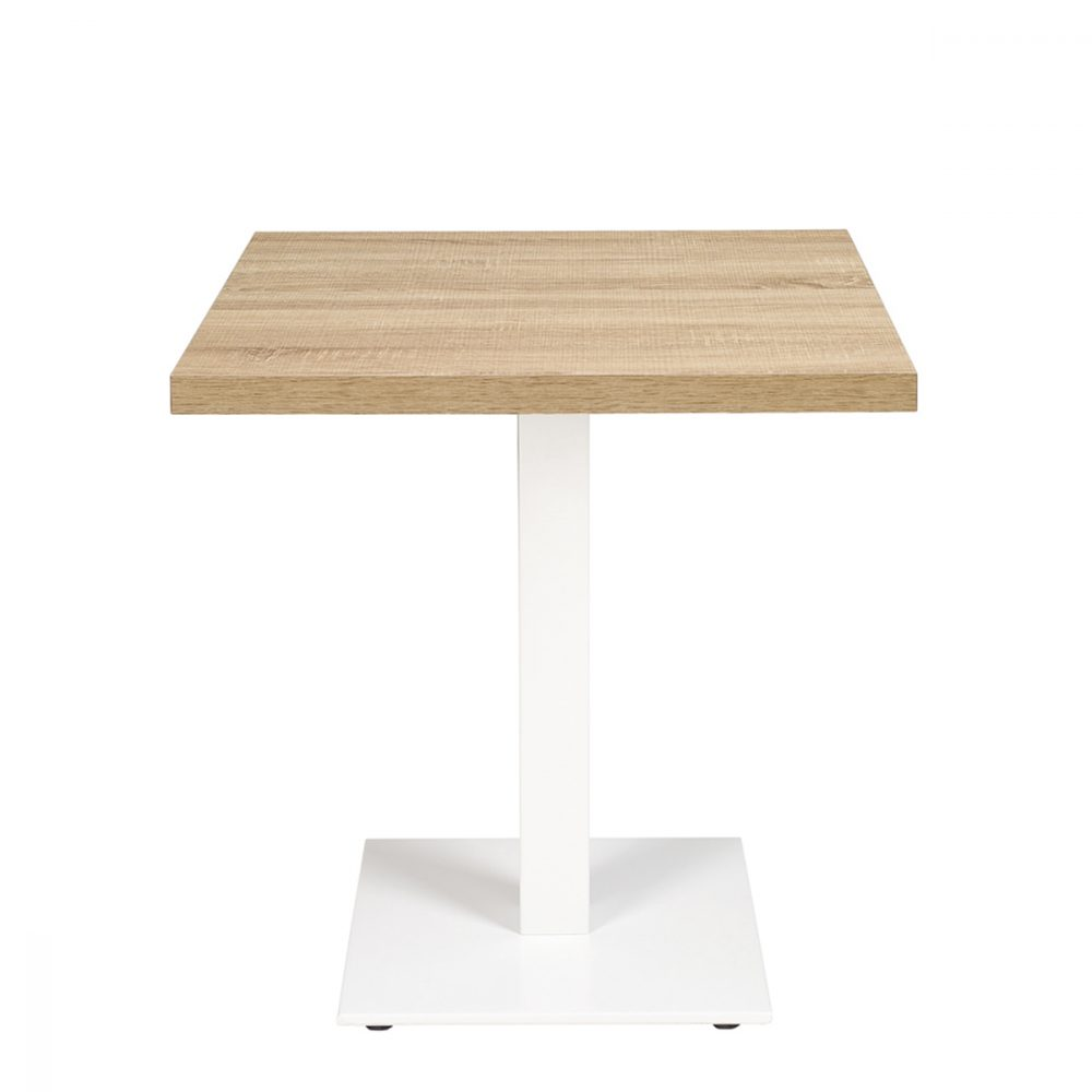 munich-mesa-75cm-aluminio-blanco-tablero-cuadrado-melamina-roble-hera