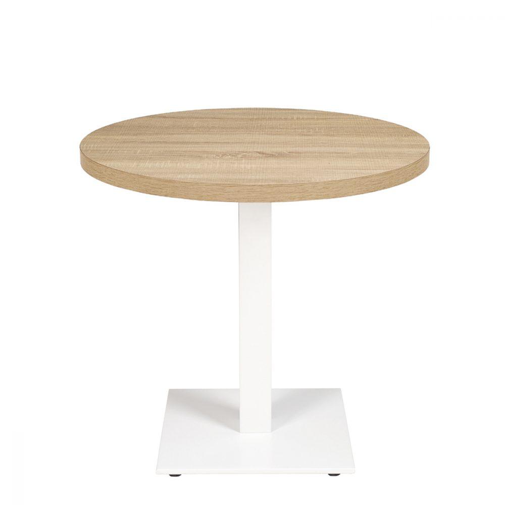 munich-mesa-75cm-aluminio-blanco-tablero-redondo-melamina-roble-hera