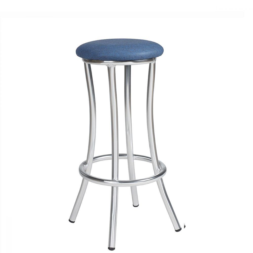 niza-banqueta-aluminio-asiento-tapizado-azul