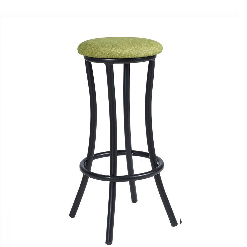 niza-banqueta-negro-asiento-tapizado-verde