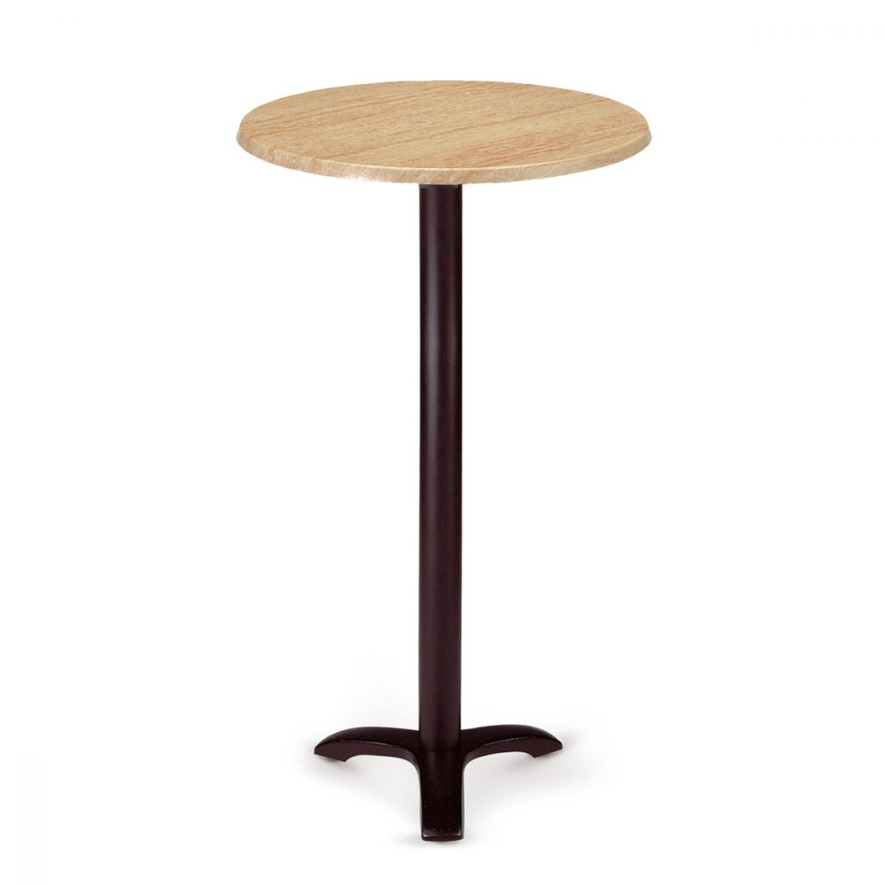 mesa oslo alta de 3 patas y fundicion de hierro con tablero redondo