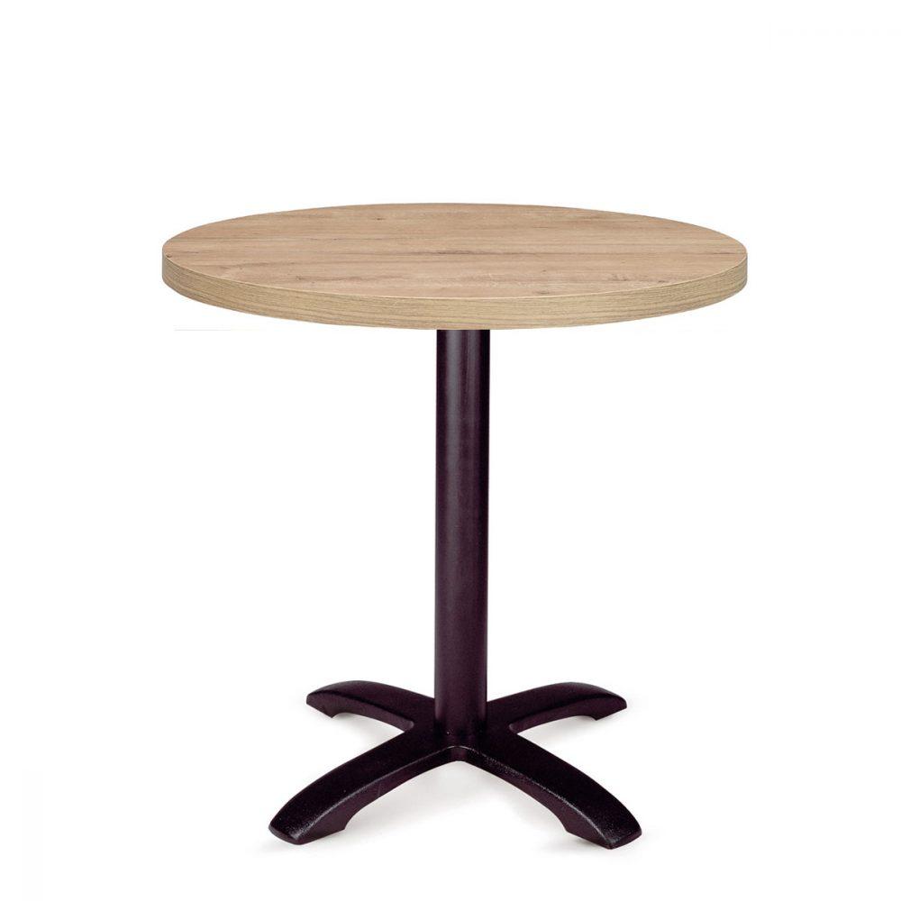 mesa oslo fundicion de hierro con tablero redondo atlas REYMA