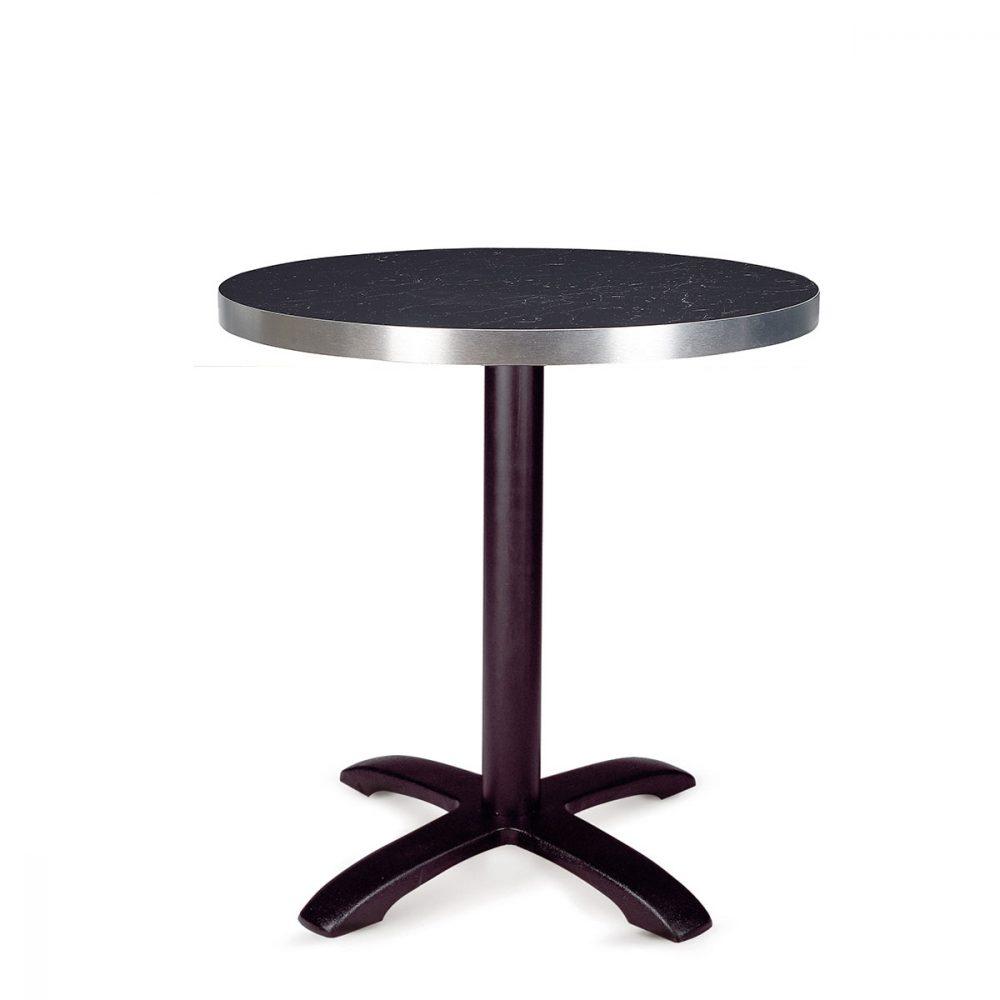 mesa oslo fundicion de hierro con tablero metalmelamian zeus redondo REYMA