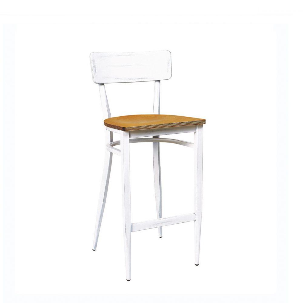 Banqueta pensilvania blanco envejecido asiento laminado