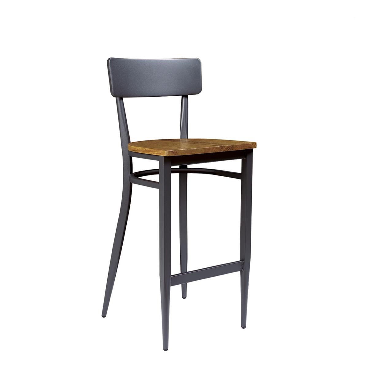 Banqueta pensilvania grafito asiento macizo