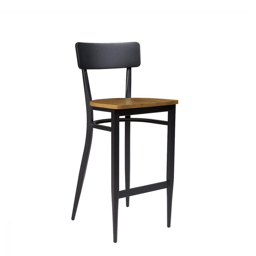 Banqueta pensilvania negro asiento macizo