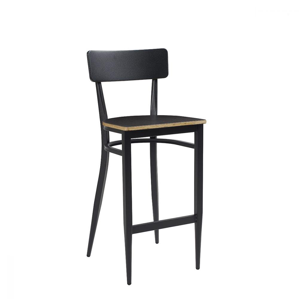 Banqueta pensilvani negra con asiento ebony